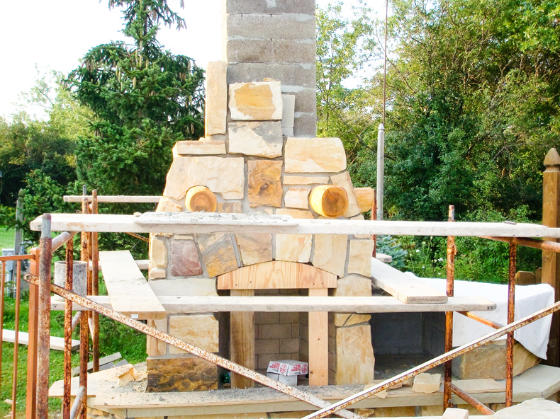 Fire Rock and Emberlock are a pumice based pre-engineered component masonry fireplace system for indoor or outdoor fireplaces